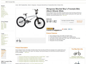 Example of an autocreated store page